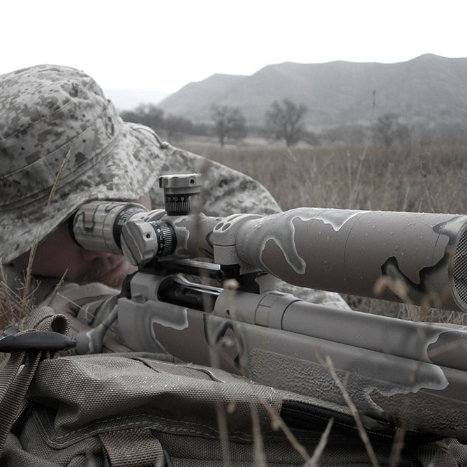 SWFA SS 5-20x50 Tactical Riflescope Mounted - 2