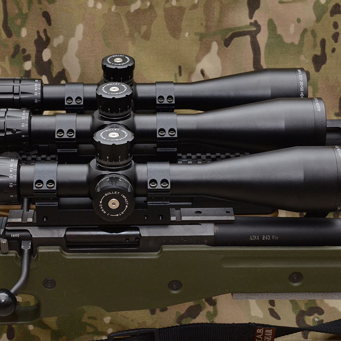 SWFA SS 5-20x50 Tactical Riflescopes Mounted - 7